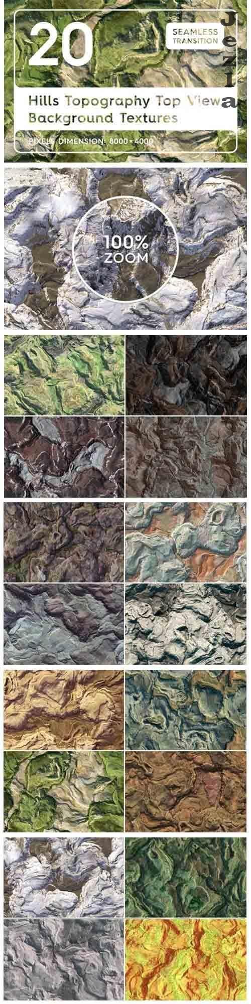 20 Hills Topography Atop Textures - 5170075