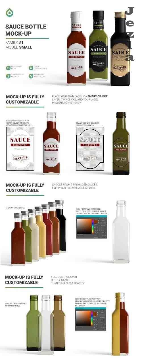 Sauce Bottle Mockup 4825815