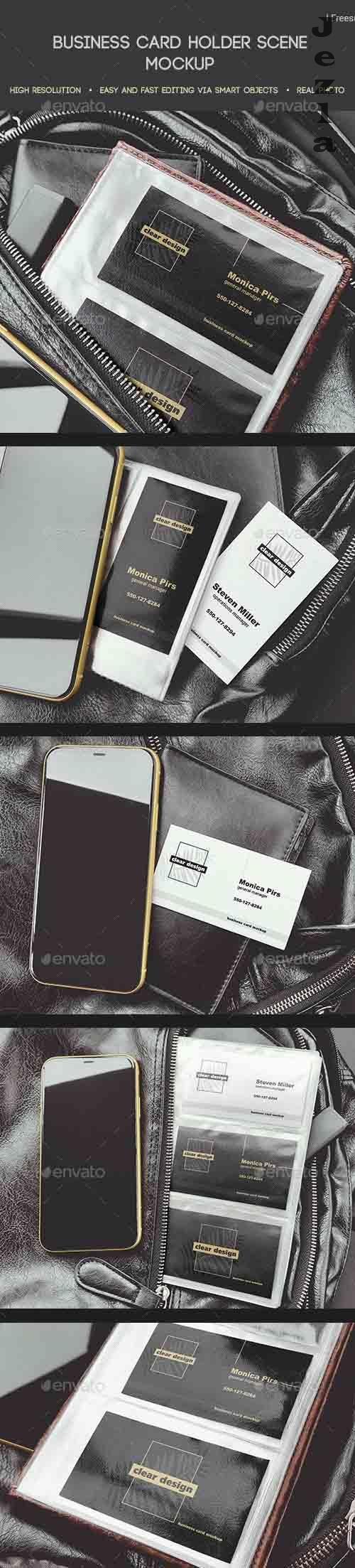Business Card Holder Scene Mockup 25780069