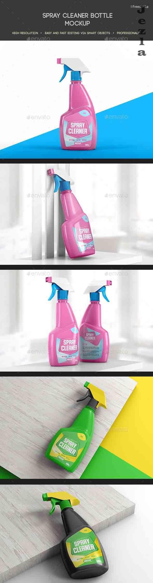 Spray Cleaner Bottle Mockup - 27136310