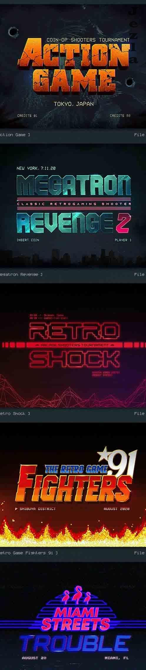 Retro Gaming 80s Classic Text Effects V1 27205242