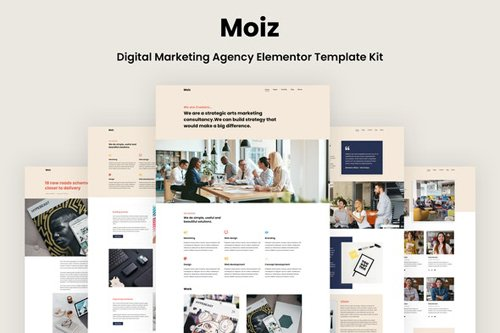 ThemeForest - Moiz v1.0 - Digital Marketing Agency Elementor Template Kit - 27540628