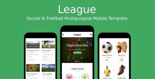 ThemeForest - League v1.0 - Soccer & Football Multipurpose Mobile Template - 19177155