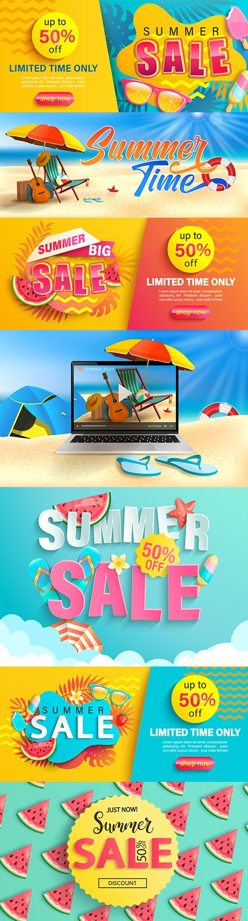 Summer sale discount up to 50% promo promotion