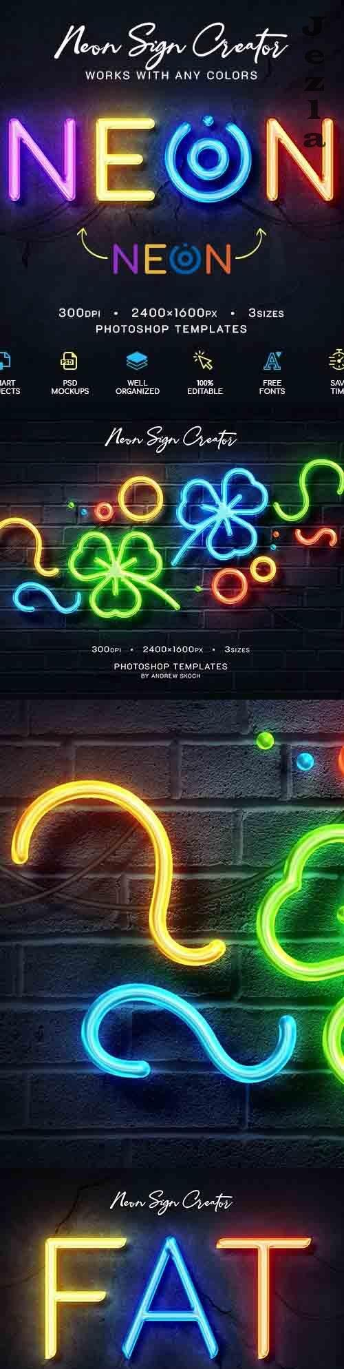 Neon Wall Logo Creator 27592881