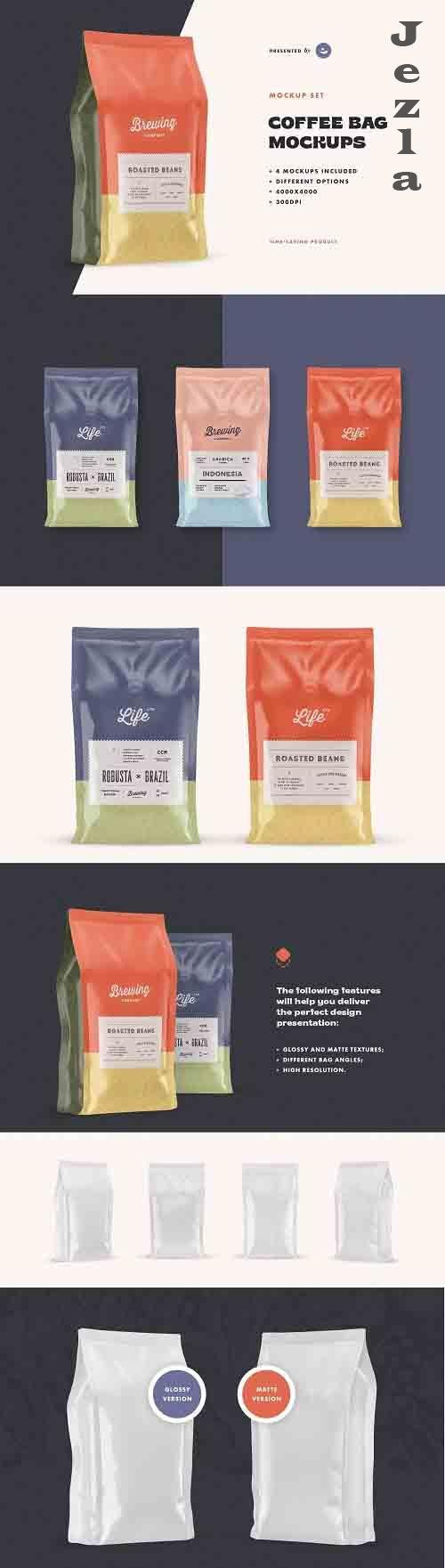 Coffee Bag Mockup Set - 5186940