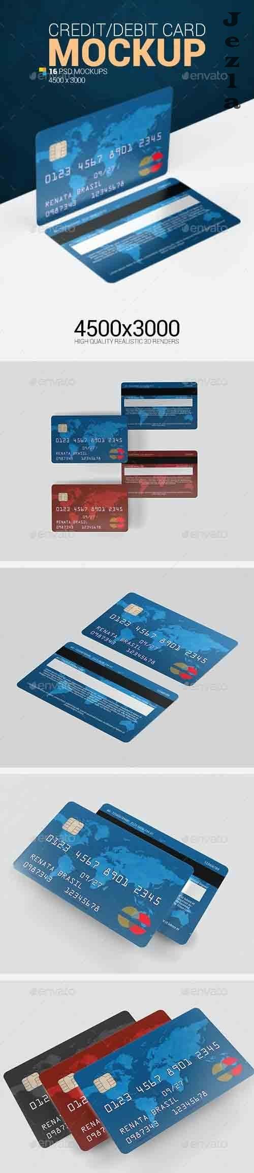 Credit Debit Card Mockup 25488294