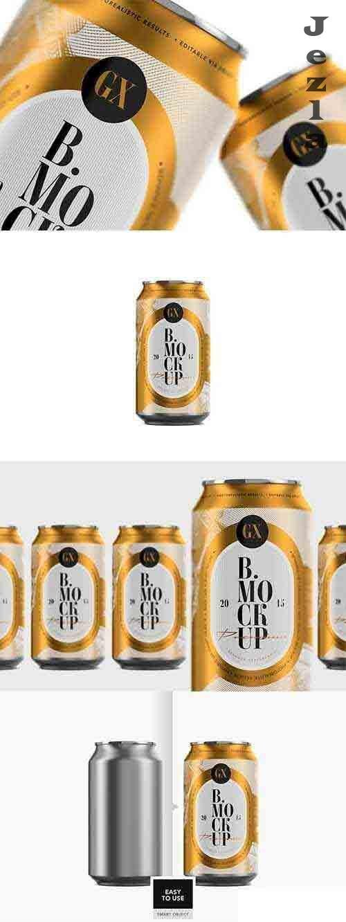 Beer/Soda Can Mockup - 4928130
