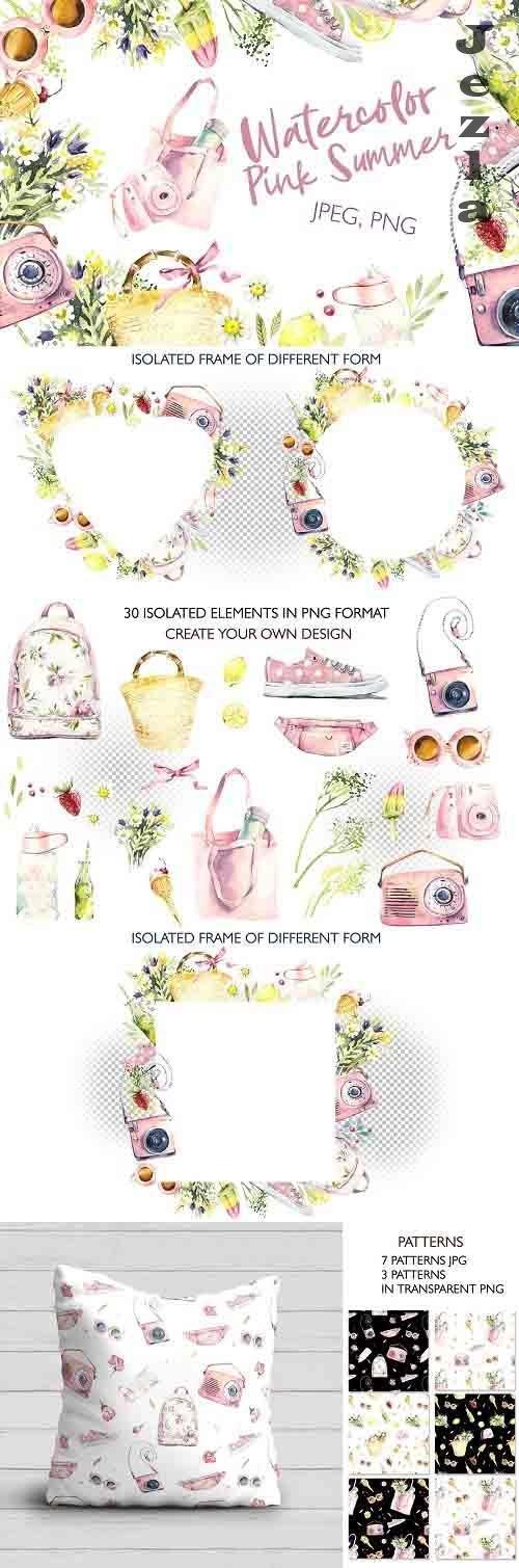 Watercolor Pink Summer - 5212685