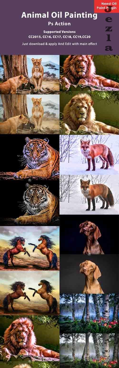Animal Oil Painting PHSP Action 26608753