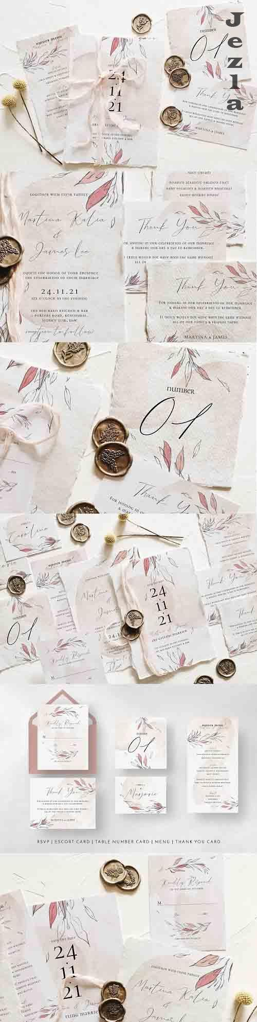 Blush & Foliage Wedding Suite - 5222915
