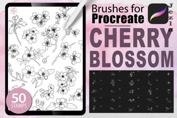 Procreate - Cherry Blossom Stamps - 4881988