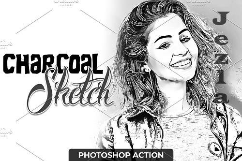 Charcoal Sketch PHSP Action 4723237