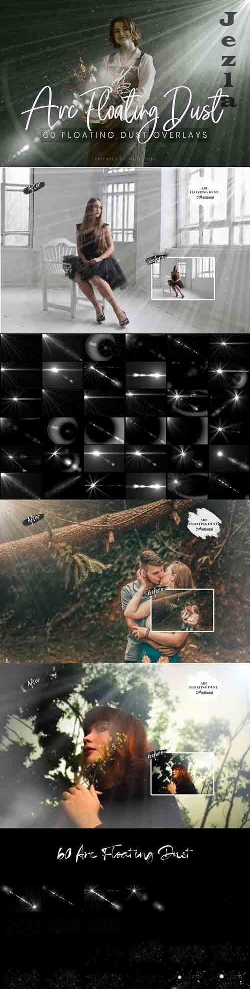60 ARC Floating Dust Flare Effect Photo Overlays - 774826