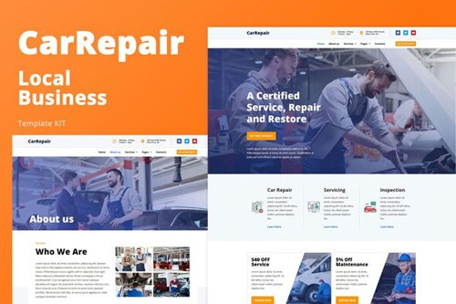 ThemeForest - CarRepair v1.0 - Local Business Template Kit - 27703214