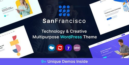 ThemeForest - San Francisco v1.1 - IT Technology and Creative WordPress Theme - 27062705