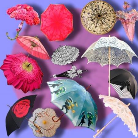 Клипарты без фона - Летние зонтики