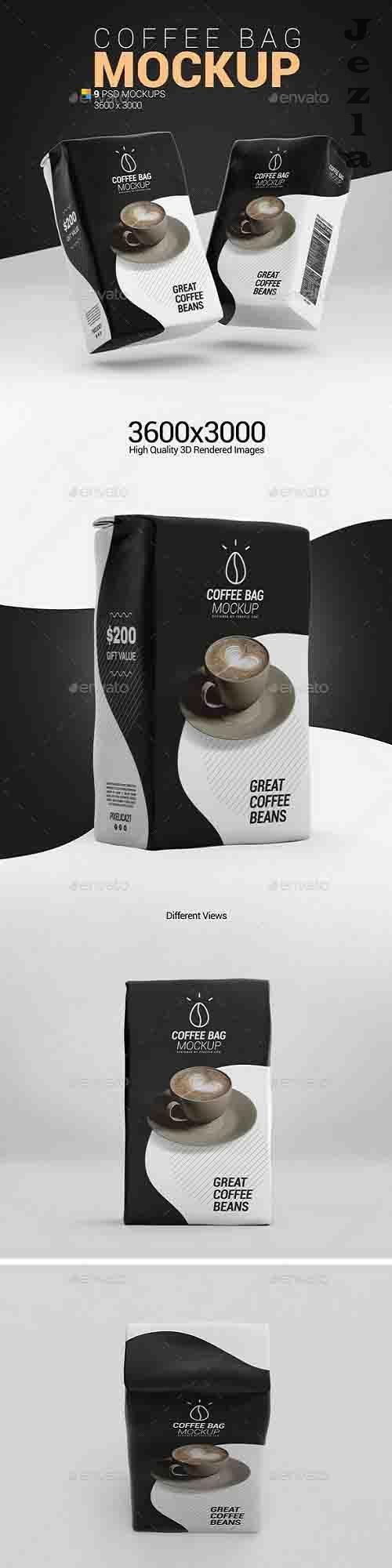 Coffee Paper Bag Mockup 26114957