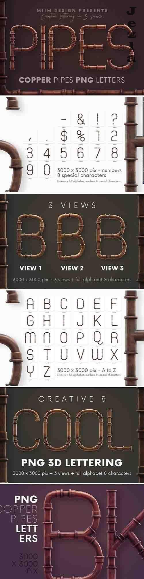 Copper Pipes - 3D Lettering - 5212626