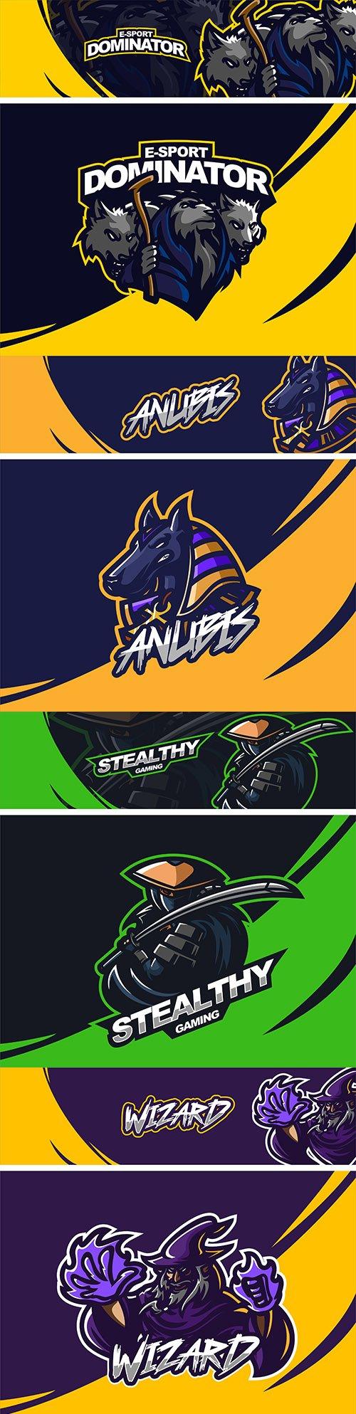 Emblem mascot and Brand name logos design 3