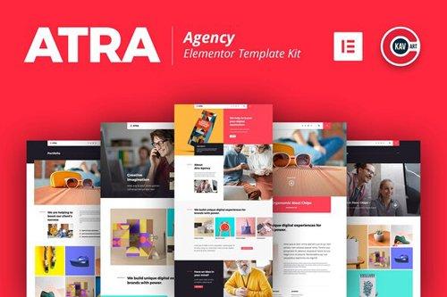 ThemeForest - Atra v1.0 - Creative Agency Elementor Template Kit (Update: 29 July 20) - 27807308