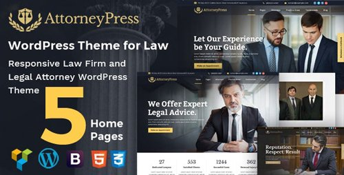 ThemeForest - Attorney Press v2.1.1 - Lawyer WordPress Theme - 20385629