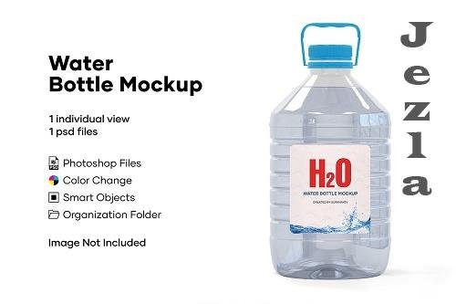 5L Clear PET Water Bottle Mockup 5233909