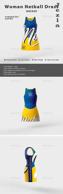 Woman Netball Dress Mockup 26545530