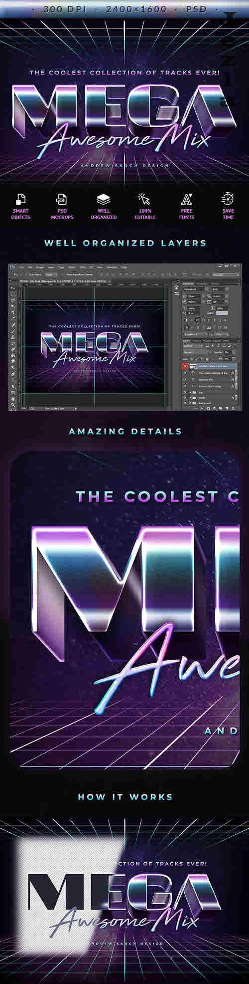 Mega - 80s Retro Text Effect - 27717604