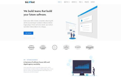 ThemeForest - bizNext v1.0 - Corporate Business Template Kit - 27897629
