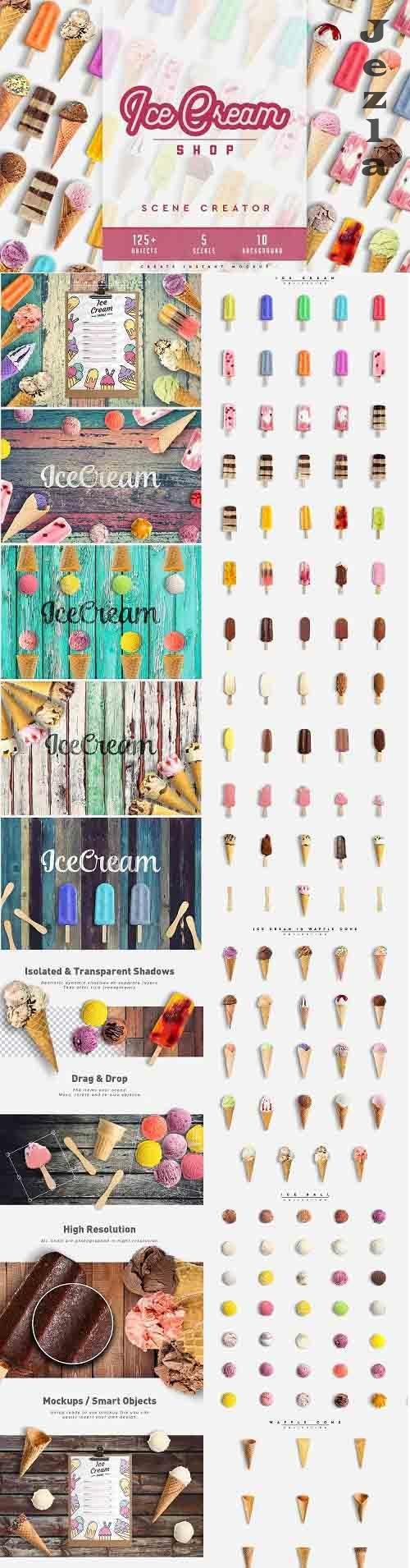 Ice Cream Scene Creator #01 4487477