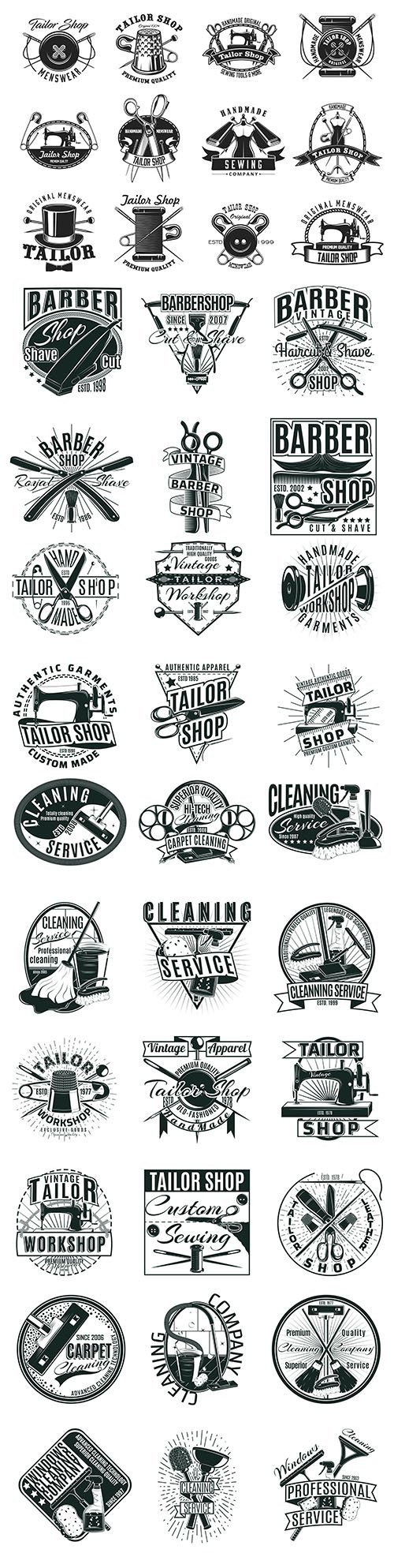 Vintage antique emblems and logos with text design 2