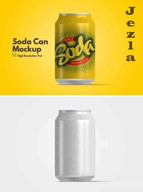 Soda Can Mockup V.1