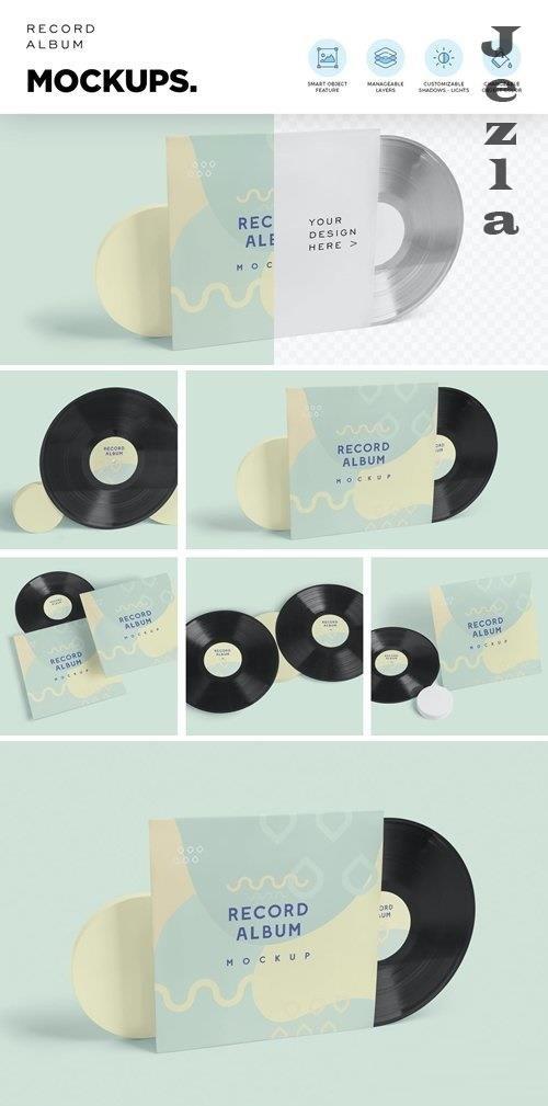 Vinyl Record Album Mockups