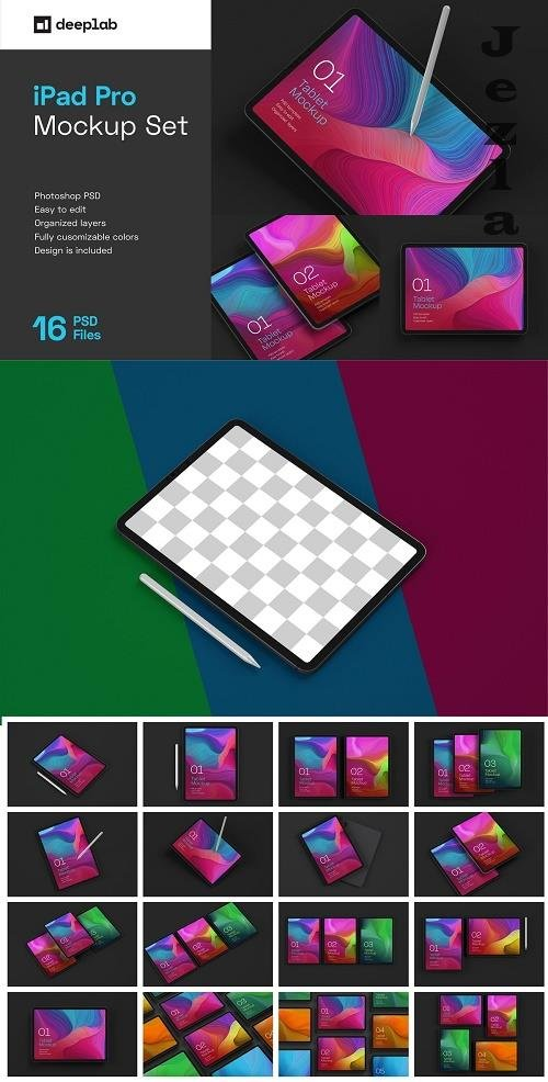 iPad Pro Mockup Set | Tablet Screen 5241075