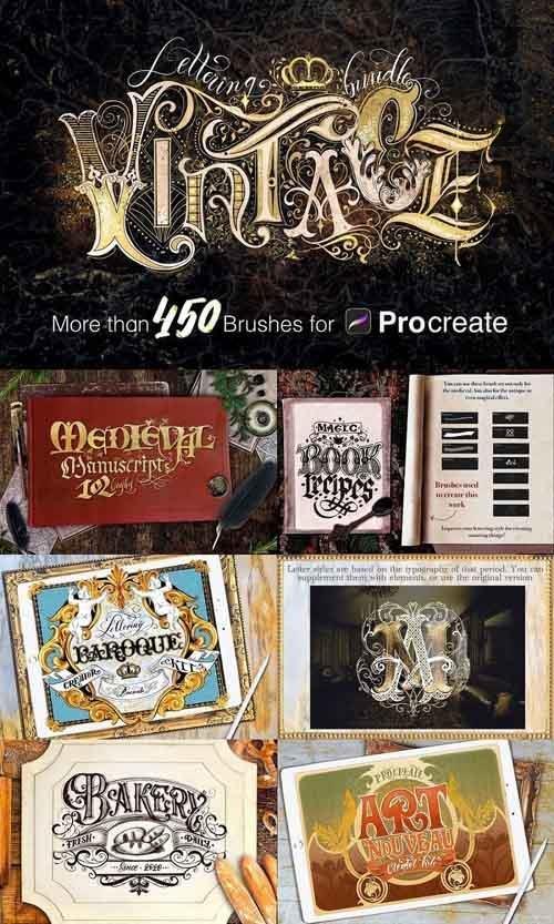 Vintage Lettering Bundle 4923868