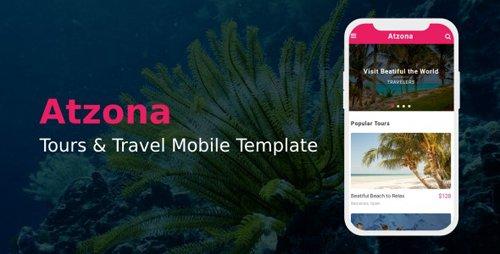 ThemeForest - Atzona v1.0 - Tours & Travel Mobile Template - 22536521