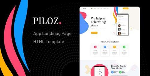 ThemeForest - Piloz v1.0 - App Landing Page HTML Template - 27186974