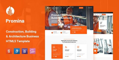 ThemeForest - Promina v1.0 - Construction and Building HTML5 Template (Update: 1 July 20) - 26975655