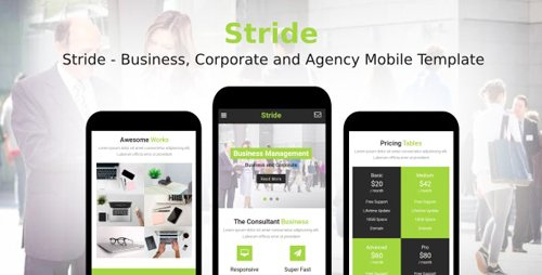 ThemeForest - Stride v1.0 - Business, Corporate and Agency Mobile Template - 21035183