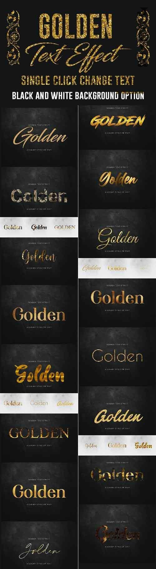 Gold Text Effect 27917080