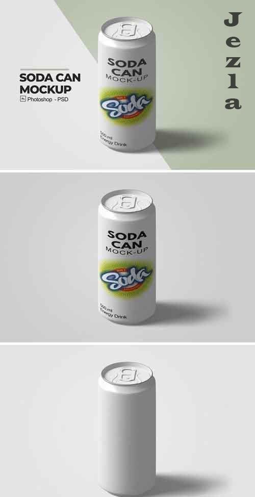 Soda Can Mockup V.3