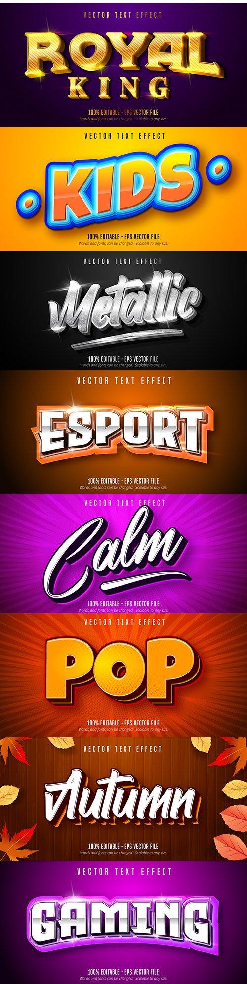 Editable font effect text collection illustration design 178