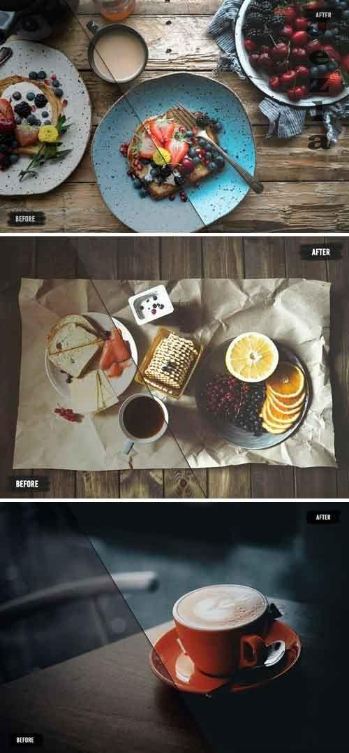 50 Food LUTs (Look Up Tables)