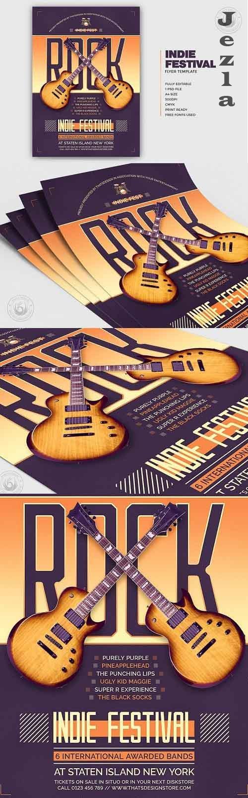 Indie Fest Flyer Template V8 - 5314476
