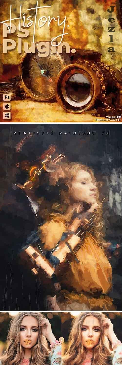 History - Realistic Painting Art Photoshop Plugin 28048023