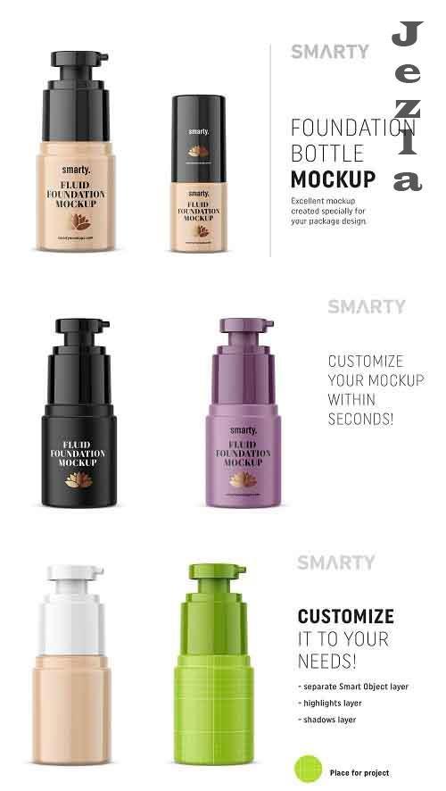 Foundation bottle mockup - 4673615