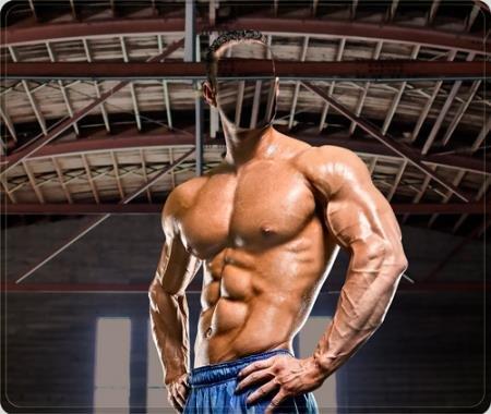 Фотошаблон - Тренировка мышц
