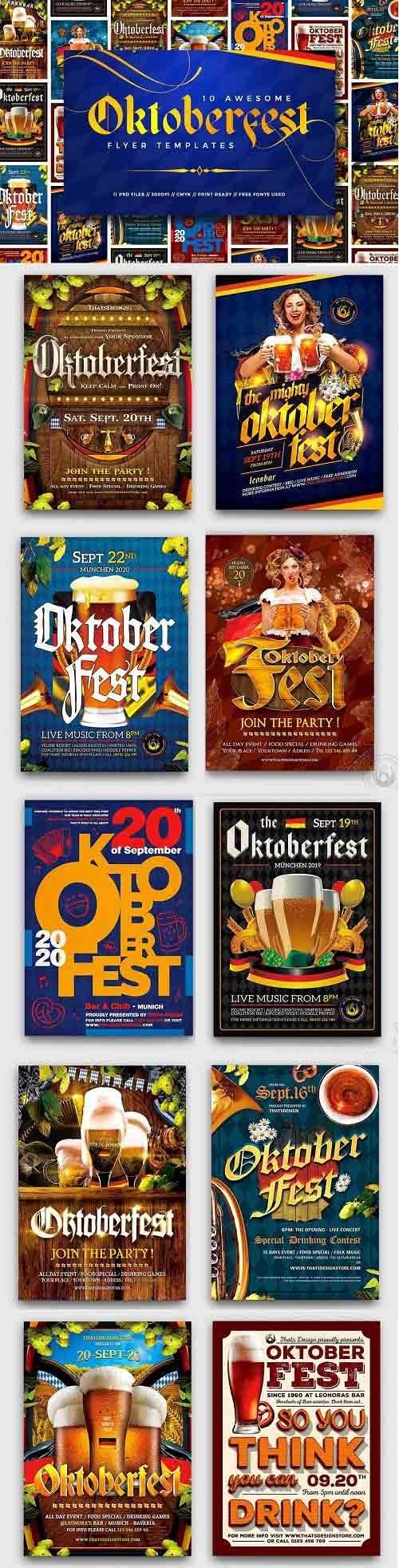 10 Oktoberfest Flyers Bundle - 5288118