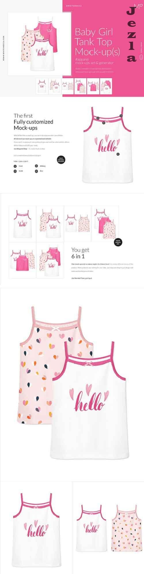 Baby Girl Tank Blouse Mock-ups Set 4662064
